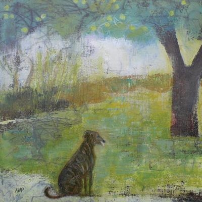 Lurcher At Apple Tree Cards