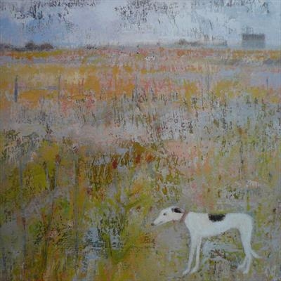 Spotty Greyhound At Nature Reserve Card