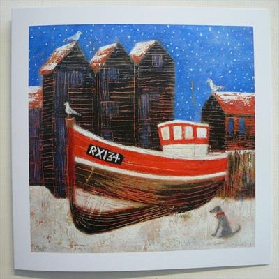 Net Huts In The Snow Cards