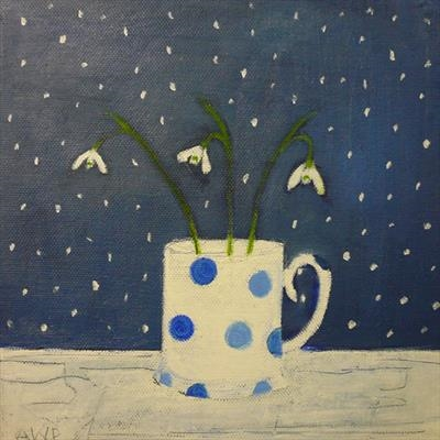 Snowdrops On Blue