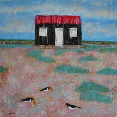 Oystercatchers At The Red Hut