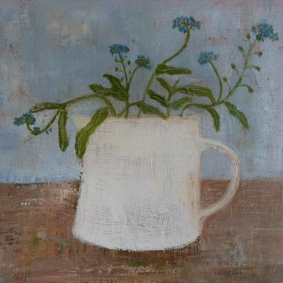 Forget-Me-Nots In A White Gopsall Cup