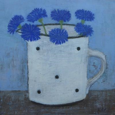 Cornflowers In A White Gopsall Jug
