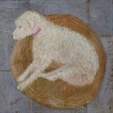 Art School Dog by Anna Wilson-Patterson, Painting, Oil on Wood