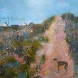 At Camber Dunes by Anna Wilson-Patterson, Painting, Oil on Wood