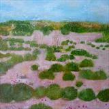 Baby Bunnies At Winchelsea Sands by Anna Wilson-Patterson, Painting, Oil on Wood
