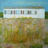 Beach House by Anna Wilson-Patterson, Painting, Oil on Wood