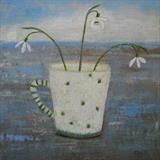 Beach Snowdrops by Anna Wilson-Patterson, Painting, Oil on panel