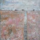 Boardwalk Dungeness by Anna Wilson-Patterson, Painting, Oil on canvas