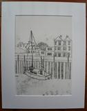 Boat at Strand Quay Rye by Anna Wilson-Patterson, Artist Print, Hand Print