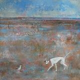Boy Meets Gull by Anna Wilson-Patterson, Painting, Oil on Wood