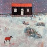 Christmas At The Red Hut by Anna Wilson-Patterson, Painting, Oil on Wood