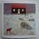 Christmas At The Red Hut Cards by Anna Wilson-Patterson, Painting