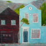 Cliff Houses, Rock-A-Nore by Anna Wilson-Patterson, Painting, Oil on Wood