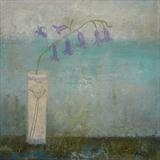 Coastal Bluebells by Anna Wilson-Patterson, Painting, Oil on Wood