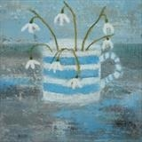 Coastal Snowdrops by Anna Wilson-Patterson, Painting, Oil on Board