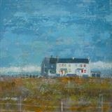 Coastguard Cottages, Jury's Gap by Anna Wilson-Patterson, Painting, Oil on Wood