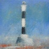 Dungeness Lighthouse Study by Anna Wilson-Patterson, Painting, Oil on panel