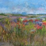 Dungeness Poppies by Anna Wilson-Patterson, Painting, Oil on Wood