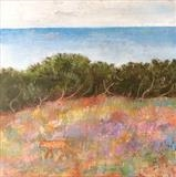 Fox In Heather, Fairlight by Anna Wilson-Patterson, Painting, Oil on Wood