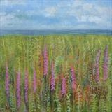 Foxgloves and Ferns by Anna Wilson-Patterson, Painting, Oil on Wood