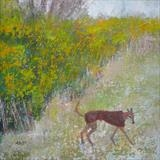 Foxy Greyhound by Anna Wilson-Patterson, Painting, Oil on panel