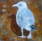 Goodbye Gull by Anna Wilson-Patterson, Painting, Oil on canvas