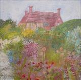 Great Dixter Long Border by Anna Wilson-Patterson, Painting, Oil on panel