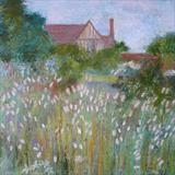 Great Dixter Walled Garden by Anna Wilson-Patterson, Painting, Oil on Wood