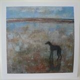 Greyhound At March Tide Cards by Anna Wilson-Patterson, Painting, Ink on Paper
