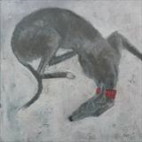 Greyhound Circle by Anna Wilson-Patterson, Painting, Oil on Wood