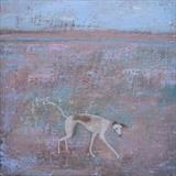 Happy Dance Dog by Anna Wilson-Patterson, Painting, Oil on Wood