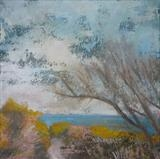 Hastings Country Park, June by Anna Wilson-Patterson, Painting, Oil on Wood