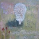 Herdwick Sheep With Teasel by Anna Wilson-Patterson, Painting, Oil on Wood