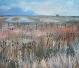 Lagoon, Rye Harbour by Anna Wilson-Patterson, Painting, Oil on Wood