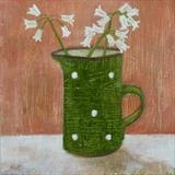 Leeks In Gopsall Green Jug by Anna Wilson-Patterson, Painting, Oil on Wood
