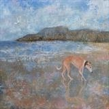 Lucy At The Beach by Anna Wilson-Patterson, Painting, Oil on Wood