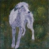 Lurcher Commission by Anna Wilson-Patterson, Painting, Oil on canvas