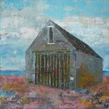 Mary Stanford Lifeboat House Colours by Anna Wilson-Patterson, Painting, Oil on Wood