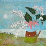 Moonlight Bouquet by Anna Wilson-Patterson, Painting, Oil on panel