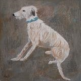 Mud Loving Lurcher by Anna Wilson-Patterson, Painting, Oil on Wood