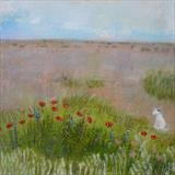 Nell At Pilot Inn Dungeness by Anna Wilson-Patterson, Painting, Oil on Wood