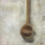 Nibbled Spoon by Anna Wilson-Patterson, Painting, Oil on Board