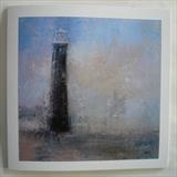Old Dungeness Lighthouse Card by Anna Wilson-Patterson, Painting, Ink on Paper