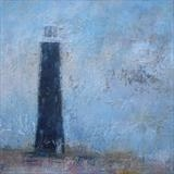 Old Lighthouse Dungeness by Anna Wilson-Patterson, Painting, Oil on canvas