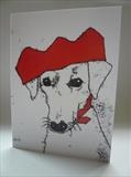 Party Hound Card by Anna Wilson-Patterson, Artist Print, Ink on Paper