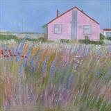 Pink House Dungeness by Anna Wilson-Patterson, Painting, Oil on Wood