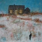 Prospect Cottage Cat, Dungeness by Anna Wilson-Patterson, Painting, Oil on Wood