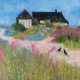 Prospect Cottage Crows by Anna Wilson-Patterson, Painting, Oil on Wood