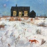 Prospect Cottage Fox by Anna Wilson-Patterson, Painting, Oil on Wood